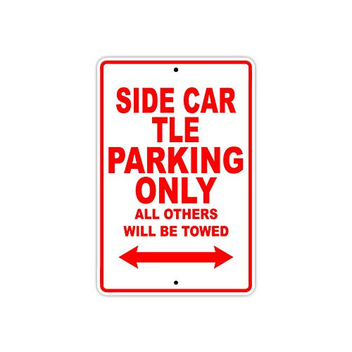 HARLEY DAVIDSON SIDE CAR TLE Parking Only All Others Will Be Towed Motorcycle Bike Novelty Garage Aluminum 8