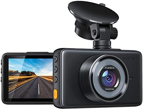 APEMAN Dash Cam 1080P FHD DVR Car Driving Recorder 3 Inch LCD Screen 170 Wide Angle, G-Sensor, WDR, Parking Monitor, Loop Recording, Motion Detection