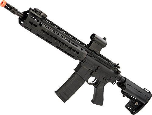 Airsoft M4 Aeg - Evike - CYMA Keymod-S M4 Airsoft AEG (Color: Black/Polymer/Carbine Length)
