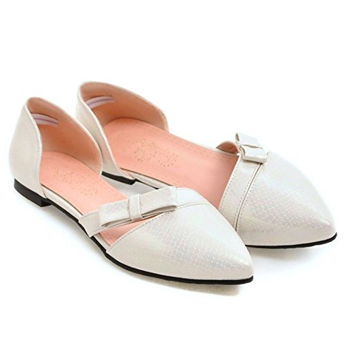 Femmes Pointue TAOFFEN White Sandales 4 Fgq1XWwHx