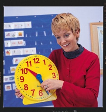 5 Pack LEARNING RESOURCES BIG TIME CLOCK DEMONSTRATION 12 HR by Learning Resources