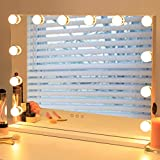 Hollywood Vanity Mirror with Lights - AMST Makeup Mirror, Beauty Cosmetic Tabletop Mirror with 12pcs Dimmable Bulbs LED Bulbs for Dressing Room, 3 Color Lighting Modes, USB Port, L22.83 X H17.5 Inch