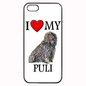 Custom Puli I Love My Dog Photo iPhone 4 4S Case Cover Hard Shell Back