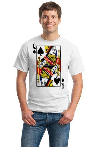QUEEN OF SPADES Unisex T-shirt / Card Costume Tee, Magic Trick Tee