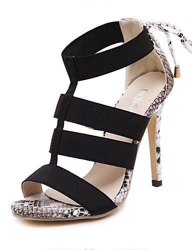 ShangYi Womens Shoes Stiletto Heel Heels Sandals Outdoor Gray/Gold gray