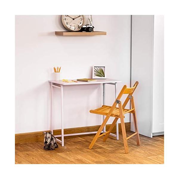 Chaises en bois pliantes – couleur bois naturel – lot de 2
