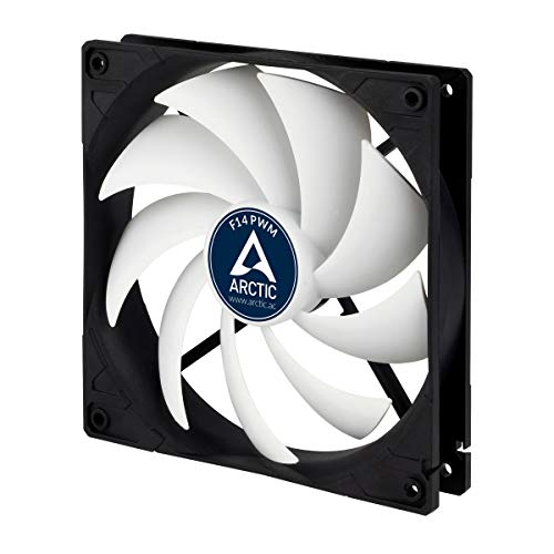 ARCTIC F14 PWM - 140 mm PWM Case Fan, Silent Cooler with Standard Case, PWM-Signal regulates Fan Speed, Push- or Pull Configuration Possible