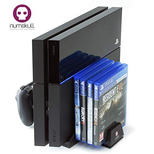 Charging Station - PS4 Vertical Stand (All in One) Controller Charging Dock, Cooling Fan, Game Holder and built in USB hub for Playstation 4 Console
