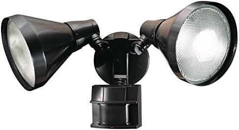 Heath Zenith HZ-5412-BZ-D Heathco Hz-5412-Bz Security Light, 120 Vac, 300 W, Halogen, Medium E26 , 150 W, Bronze