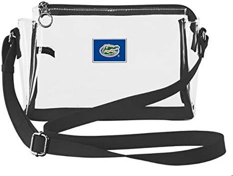 Stadium Bag Gator Bag w six outer pockets /& attached key chain Travel Bag Clear Bag Florida Gator Stadium Bag Florida Gators