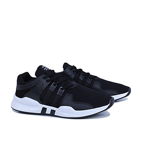 FZDX Men's Sport Shoes Casual Running Breathable Lace-up Shoes Lightweight for Men Black 008 fUcFd
