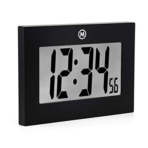 Marathon Large Digital Wall Clock with FoldOut Table Stand.