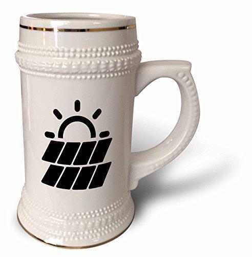 3dRose Carsten Reisinger - Illustrations - Solar Power Symbol Protect the Environment - 22oz Stein Mug (stn_282669_1) by 3dRose