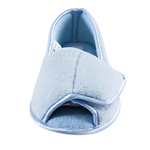 W Git Edema up Shoes Blue Velcro Arthritis Women Diabetic Slippers TwwPOxqp4I