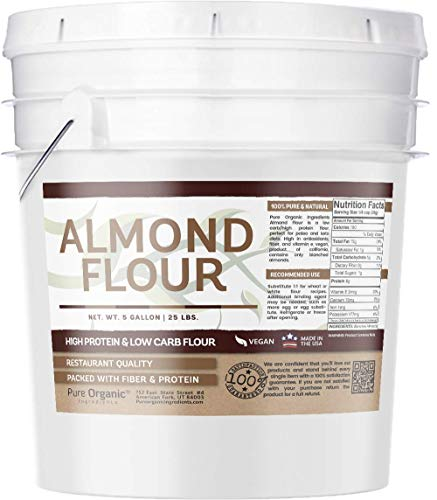 Almond Flour (5 Gallon Bucket, 25 lbs) by Pure Organic Ingredients, Gluten-Free, Blanched, Finely Ground, Vegan, Paleo & Keto Friendly, Strong Resealable Bucket (Also Available in 1 Gallon Bucket) by Pure Organic Ingredients (Image #6)