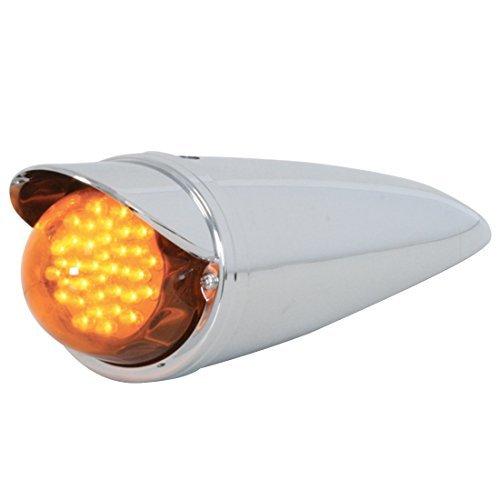 GG Grand General 93721 Amber 3.5 Inch Clear Cab Led Light with Dark Am Regular Glass Lens & Visor by GG Grand General