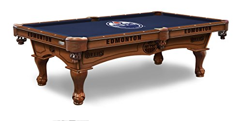 (Holland Bar Stool Co. Edmonton Oilers 8' Logo Pool Table)