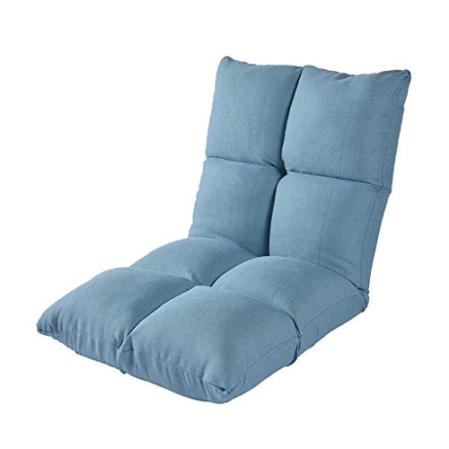 abcdd605df81 Folding Floor Chair with Adjustable Backrest Seat Chairs Gaming Couch Lazy  Lounge Sofa Meditation Relaxing Blue