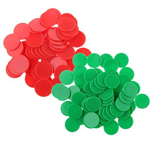 SONONIA 約200個 プラスチック ポーカーチップ ビンゴマーカー ボードゲーム おもちゃ
