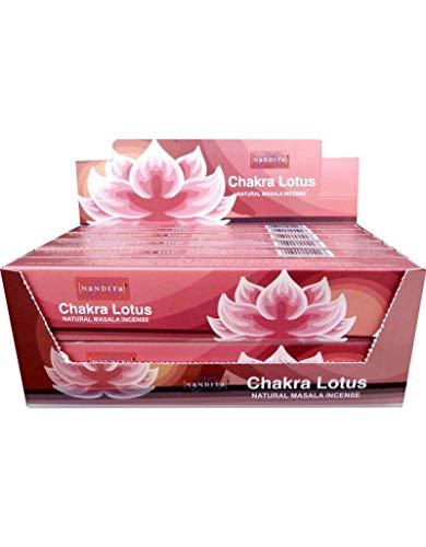 Nandita Incense Sticks Chakra Lotus 12 x 15 gm