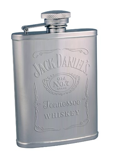 Jack Daniel's Licensed Barware Embossed Label Flask, 3-Ounce ()