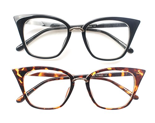 13700d2b33 SOOLALA Womens Quality Readers Stylish Oversized Cat Eye Custom Reading  Glasses