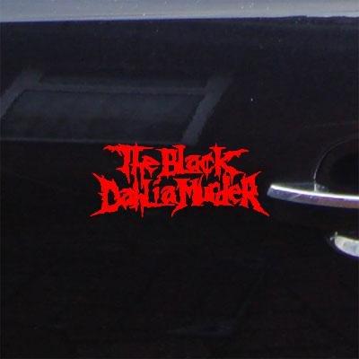 CAR AUTO DIE CUT HELMET DECORATION CAR WINDOW BIKE ART THE BLACK DAHLIA MURDER RED NOTEBOOK ADHESIVE VINYL STICKER DECAL VINYL WALL ART WALL DECOR (Murder Car Decal)