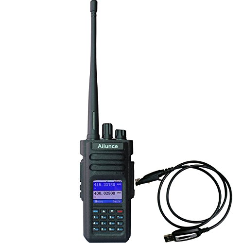 Ailunce HD1 GPS Digital 2 Way Radio Dual Band Dual Time Slot 10W 3000Channels 100000 Contacts 3200mAh Waterproof Ham Radio with FM Function and Programming Cable(Black,1pack) by Ailunce (Image #9)