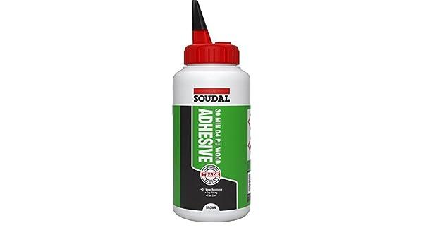 Soudal - Adhesivo de madera de poliuretano D4 de 30 minutos, botella de 750 g: Amazon.es: Bricolaje y herramientas