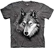 Wolf Dual Image Portrait Kids T-Shirt
