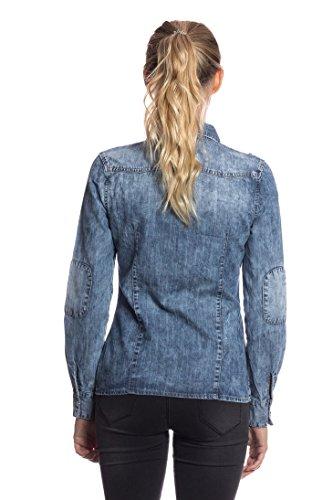 6153 Abbino Flessibile Donna Mezza 46 Estate Pantaloni Jeans Tenerezza Jean Tendenza L Autunno Colore Blu Cotone Delicato Stagione Primavera 1 Fashion Inverno 3d Elegante SSq5wrxf