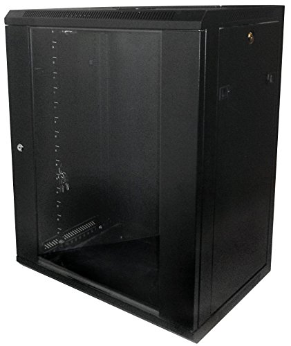 15U-High 18''-Deep 19''-Wide Wallmount Cabinet Enclosure Network Rack Locking Glass Door by LinkMade