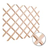 Hardware Resources WR45-2MP Wine Lattice Rack With Bevel, Maple