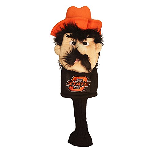 Team Golf NCAA Oklahoma State Cowboys Mascot Golf Club Headcover, Fits most Oversized Drivers, Extra Long Sock for Shaft Protection, Officially Licensed Product
