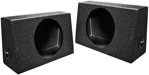 Bed Liner Spray >> Q Power Qbtruck110 Single 10 Inch Sealed Universal Truck Speaker Boxes With Durable Bed Liner Spray