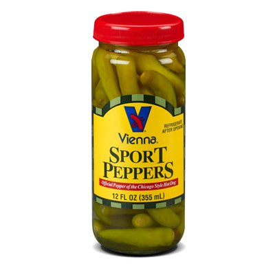 Vienna Sport Peppers (Chicago Hot Dog Style), Buy TWELVE Glass Bottles and SAVE (Half Price), Each Bottle is 16 Oz / 1 Pint (Pack of - Price Glasses Half