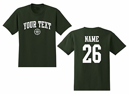 Youth Custom Personalized T-shirt, Basketball Arched Text, Back Name & Number
