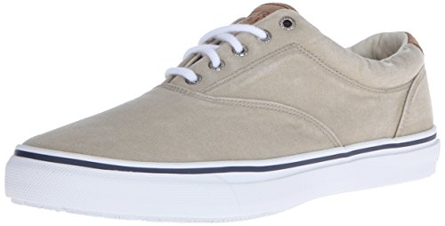 Sperry Men's Striper CVO Salt Washed Twill Sneaker,Chino,13 M US