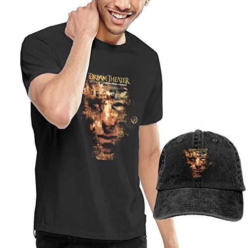 Men Dream Theater Scenes from A Memory Fashion Music Band Tshirts XXL Buy Tshirt Get One Hat Free Black ()