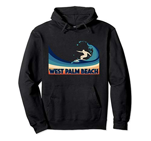 West Palm Beach Retro Surf Hoodie Souvenir Gift Clothes for sale  Delivered anywhere in USA
