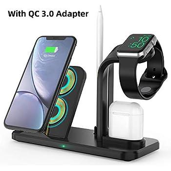 Amazon.com: SEEKONE Wireless Charger 3 in 1 Wireless ...