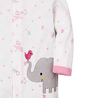 Babe Maps Baby Girls Footed Pajama Snap Front 100/% Cotton Sleeper