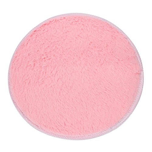 Area Rug,GOODCULLER Rugs Bedroom Rugs Non-slip Shower Round Soft Coral Fleece Mat Carpet Floor Mats Bath (Pink)