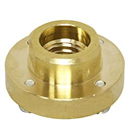 Brass 4-Hole Flush Mount Adapter