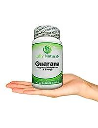 1000 mg de puro extracto de semillas de guaraná – Amazon Rainforest aumenta resistencia Cafeína Natural TE ayuda a Mantente alerta aumentar la resistencia – pérdida de peso – 90 Vegetable tabletas