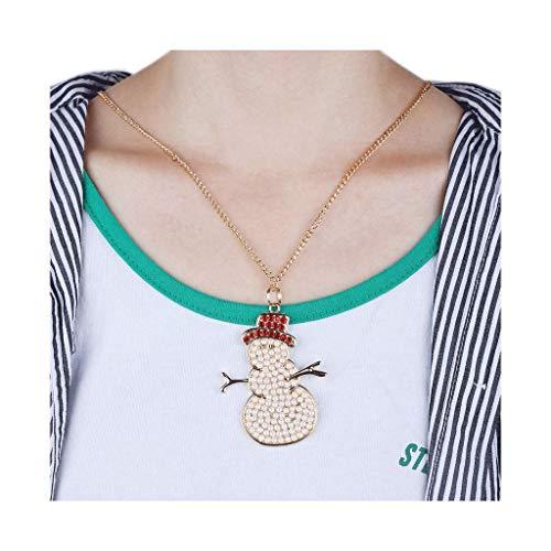 (FILOL 5D DIY Cartoon Keyrings, Necklace,Fridge Magnets, Full Drill Diamond Painting DIY Set Love Heart Keychain Necklace Gift for Friends (D-Snowman))