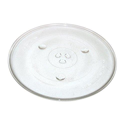 🥇 Findaspare – Plato de cristal giratorio universal para microondas de 270 mm con 6 fijadores