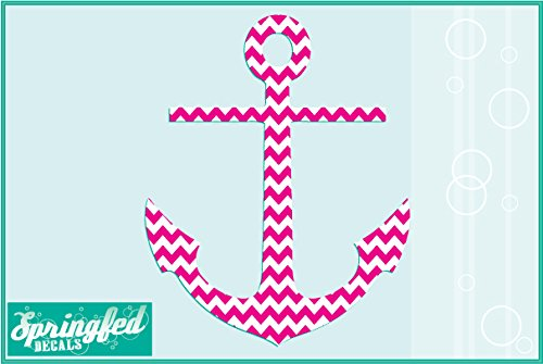 CHEVRON STRIPED ANCHOR #1 Vinyl Decal 4