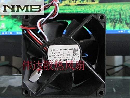 For NMB 3110KL-04W-B36 case cooling fans 80mm 8cm 8025 DC 12V 0.22A industrial quiet silent