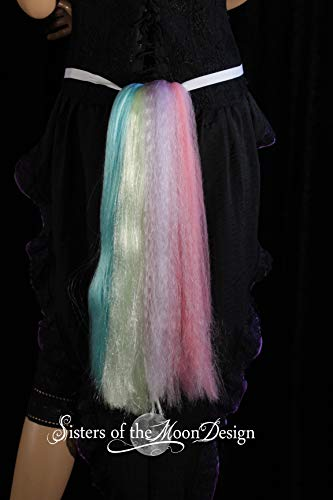 Hand made Unicorn Pony Tail tie on MLP costume belt -